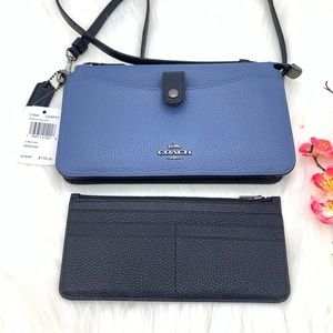 Coach Pop Up Messenger Ladies Small In Stone Blue